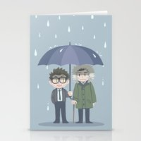 pacific rim Stationery Cards featuring Pacific Rim - Rainy Day by feriowind