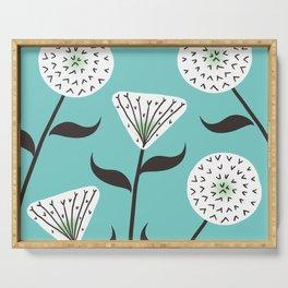 Large Print Dandelion Seeds Spring Summer Pattern Serving Tray