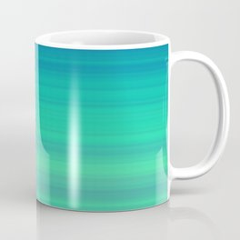 Blue Green Gradient Stripes Coffee Mug