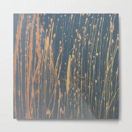Ombre 514 - Abstract Splatter in Orange, Gray, Yellow Metal Print