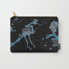 Blue Bird Lizard Carry-All Pouch