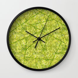 Abstract shapes with green nature colors Wall Clock