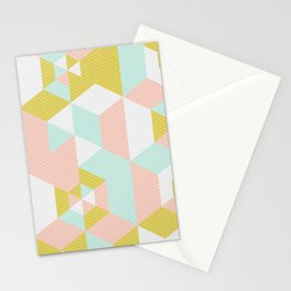 Lovely Abstract Geometric Pattern Stationery Cards