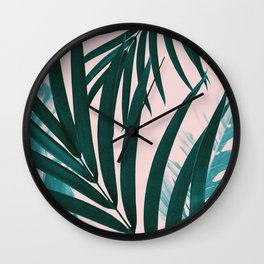 Palm & Monstera Leaves Mix #1 #foliage #decor #art #society6 Wall Clock