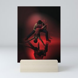 Two Jazz Dancers in Red Mini Art Print