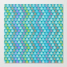 Tri-arrow Hexagon Icon off blue 1 Canvas Print