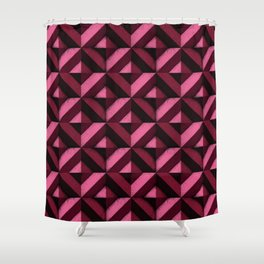 Concrete wall - Wine red Shower Curtain