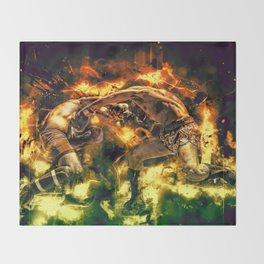 Fight Night Throw Blanket