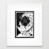 la dispute Framed Art Prints featuring La Dispute - Kiss by tumblrian