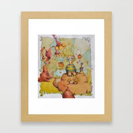 just a goofball... or two Framed Art Print