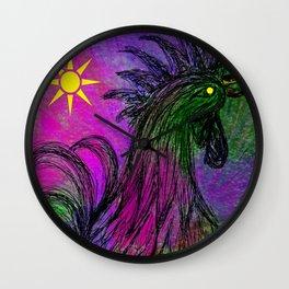 Purple Haze Hen Wall Clock