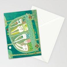 Rabbit journey Stationery Cards