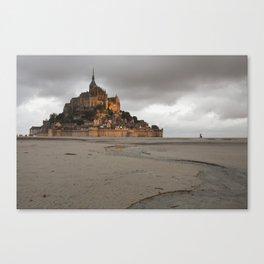 Golden Hour at Le Mont Saint-Michel Canvas Print