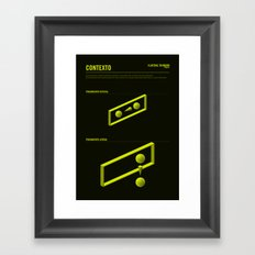 The LATERAL THINKING Project - Contexto Framed Art Print
