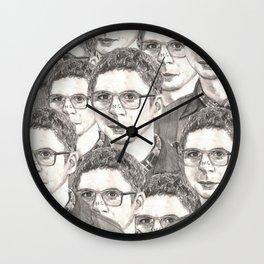michael cera Wall Clock