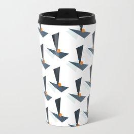 Modernistic Orange Travel Mug