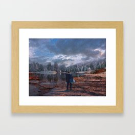 The coming of the dawn Framed Art Print