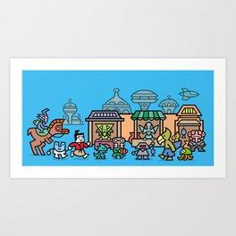 The Marketplace Art Print
