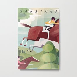 Saratoga Travel Poster Metal Print