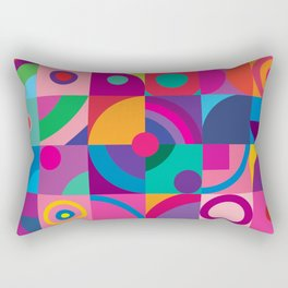 Colorful optical 2. Rectangular Pillow