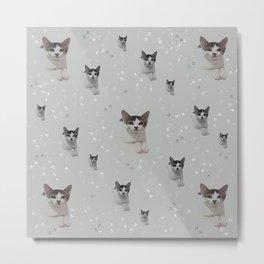 Cats Pattern.   cats, pattern, children, pet, feline, animals, Society6. Metal Print
