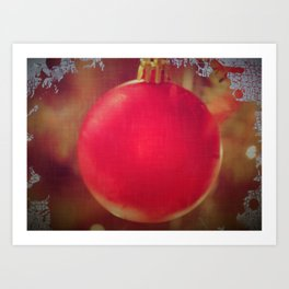 The Red Christmas Ball in the Window Art Print