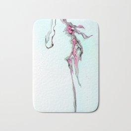 Pink Fluid Acrylic Pour Painting - Minimalist Art Bath Mat
