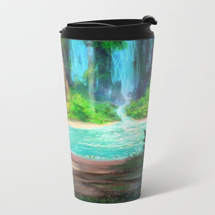 Hidden Lagoon Metal Travel Mug