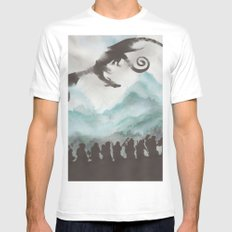 The Desolation of Smaug Mens Fitted Tee MEDIUM White
