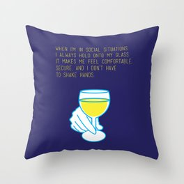 Curb Your Enthusiasm Quote Drinking Awkward Throw Pillow