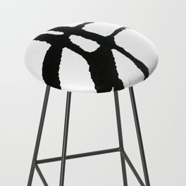 0523: a simple, bold, abstract piece in black and white by Alyssa Hamilton Art Bar Stool