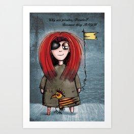 Quirky Pirate Art Print