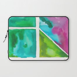 180811 Watercolor Block Swatches 9 | Colorful Abstract |Geometrical Art Laptop Sleeve