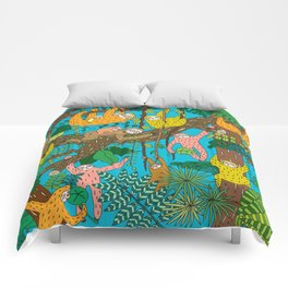 Happy Sloths Jungle Comforters