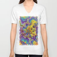 hippy V-neck T-shirts featuring Hippy 1 Psychedelic by BohemianBound