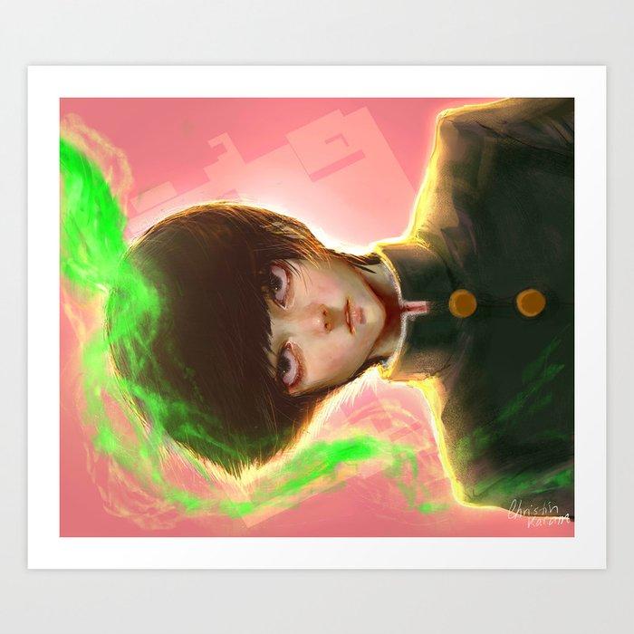 Mob Psycho 100 Art Print By Christinkm Society6