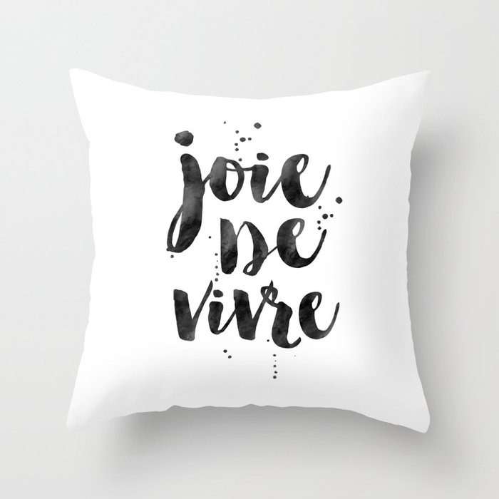 JOIE DE VIVRE French DecorFrench QuoteDorm Room DecorHome Decor Awesome French Pillows Home Decor