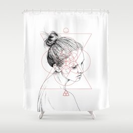 Face Facts II Shower Curtain