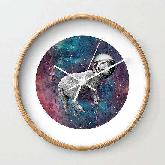 The Space Sheep 2.0 Wall Clock