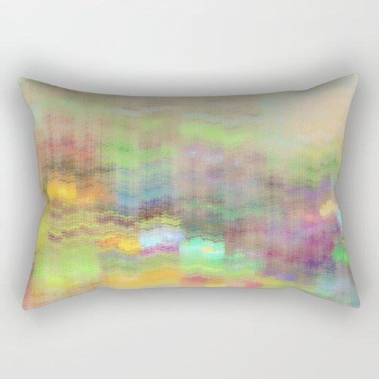 Small Mountain Village Rectangular Pillow