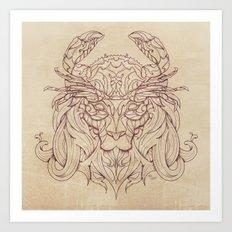 Lion Crab Art Print
