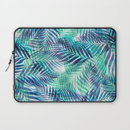 Palm Leaves - Indigo Green Laptop Sleeve