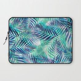 Palm Leaves - Indigo Green Laptop Sleeve