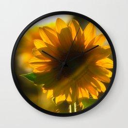 Sunflower love Wall Clock