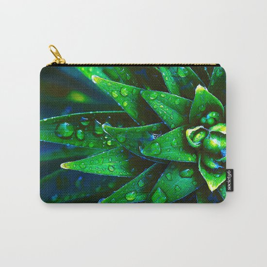 Morning Dew On Plant Carry-All Pouch