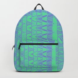 Aztec pattern in turquoise Backpack