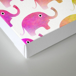 Parade Of Elephants Canvas Print
