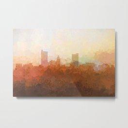 Fort Wayne, Indiana Skyline - In the Clouds Metal Print