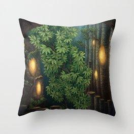 Rain room Throw Pillow