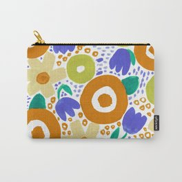 Bold Abstract Floral Inspired Pattern (Harvest Colors) Carry-All Pouch